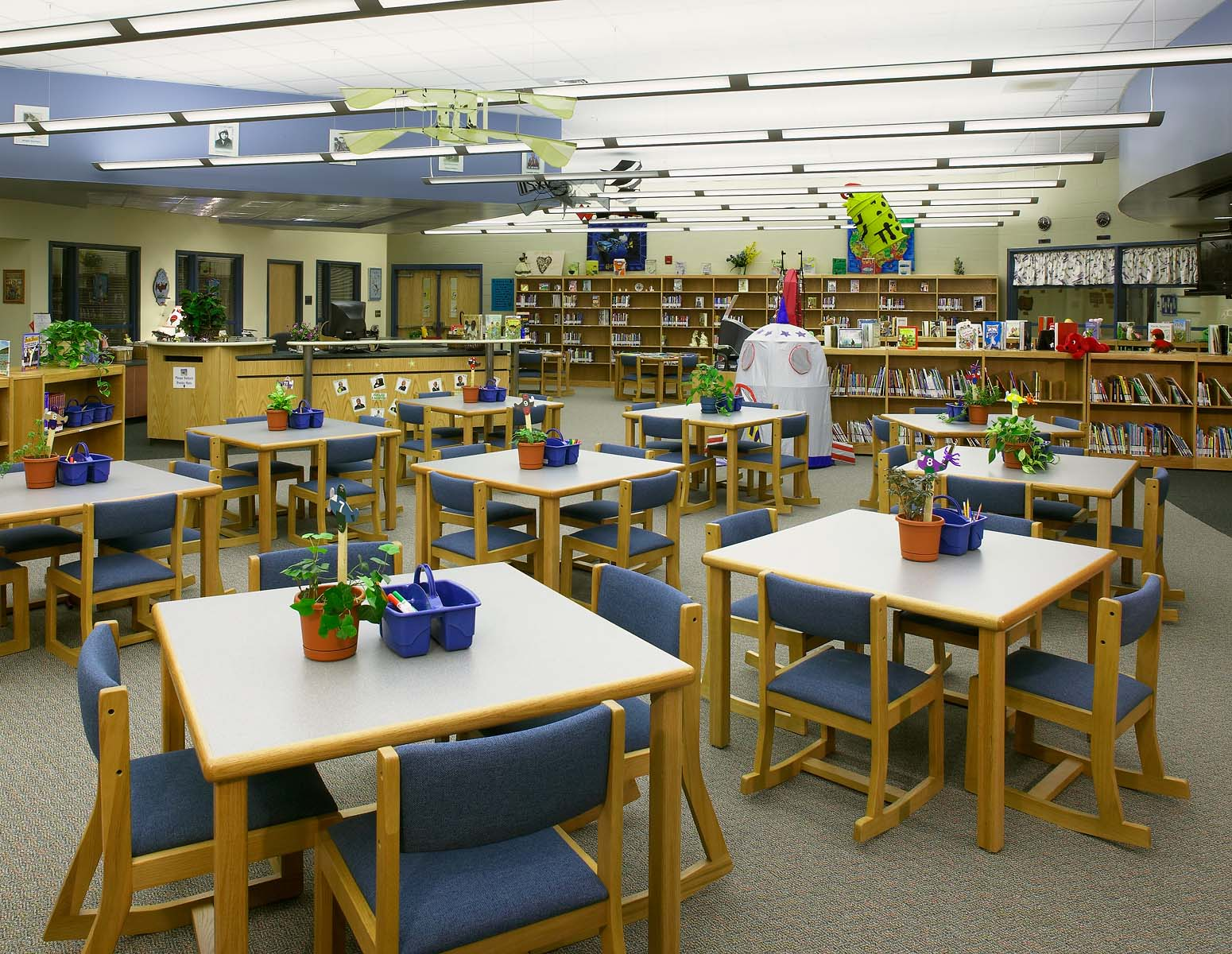 Round Top Elementary School - Library