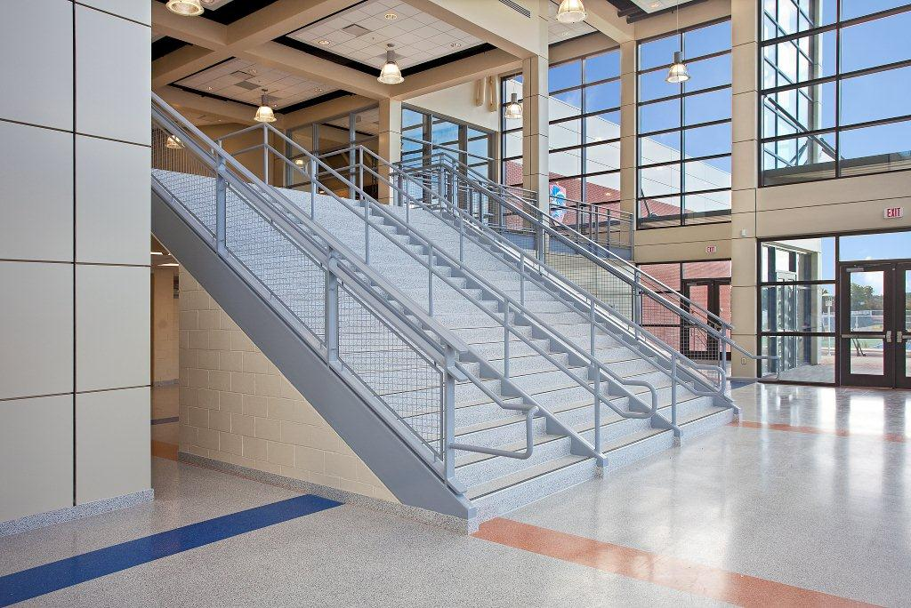 Richland NE High School - Stairway Corridor